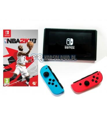 Nintendo Switch Joy-Con Neno Red Neon Blue NBA2K18