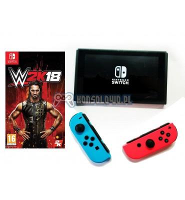 Nintendo Switch Joy-Con Neno Red Neon Blue WWE 2K18