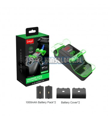 Dual charging station iPega for Xbox Series S X One with 2 aku