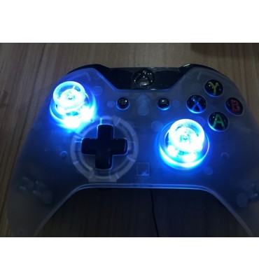 Colors LED Light Up Thumb Sticks Mod with Clear Thumbsticks Cap Set for PS4 and XBOX ONE Controller