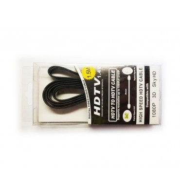 HDMI cable 1,5m flat