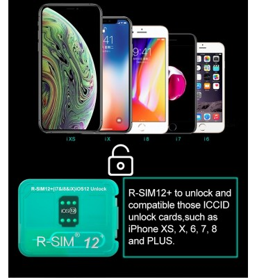 R-SIM 12 plus unlock iPhone 6 7 8 8P X XS XR