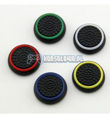 Silicone thumbstick grip caps with colour strip for PS2, PS3, PS4, Xbox 360, Xbox One