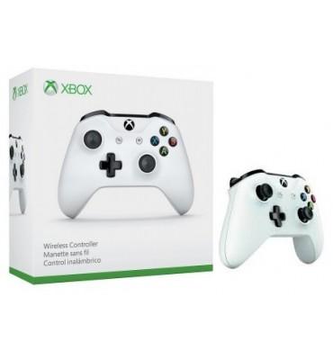 Bezprzewodowy biały kontroler Microsoft Xbox One S