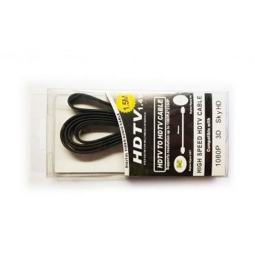 Przewód kabel HDMI1.4v 24k Flat1.5m