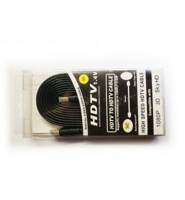 Przewód kabel HDMI 1.4v 24k Flat 3m